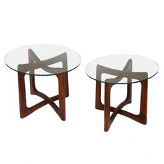 Pair of Adrian Pearsall Craft Associates End Side Tables. 2.5K