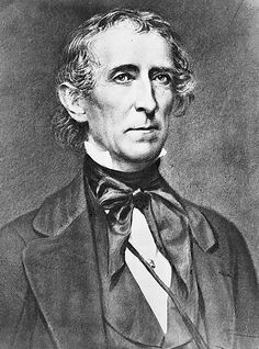 John Tyler. His term was from 1841 to 1845. He became president when William Henry Harrison died one month into his presidency.