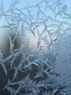 Ice on the window...
