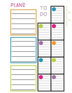 Sticky Note Planner - Organizer & Day Plan for the Scrappy