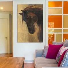 "Charlton Home Trojan Horse II Painting Print on Wrapped Canvas Size: 60"" H x 40"" W x 1.5"" D"