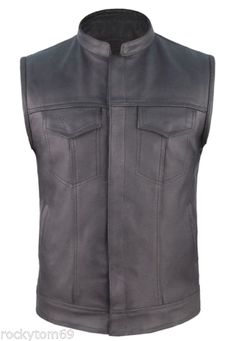concealed carry leather motorcycle club vest  $55.95 #concealedcarryvest #motorcyclevest #bikervest https://theleatherdropship.com