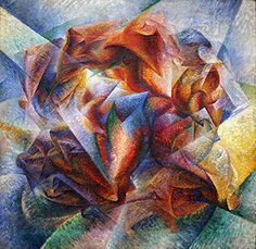 Umberto Boccioni, Dynamism of a Soccer Player, 1913, oil on canvas, 193.2 x 201 cm  (The Museum of Modern Art)