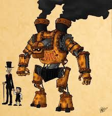 Google Image Result for http://th01.deviantart.net/fs71/PRE/i/2012/045/3/7/steampunk_robot_by_matheusboliveira-d4pr95t.jpg