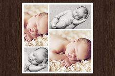 4 20x20 Photo Collage Template PSD by Paperweight Memories on @creativemarket