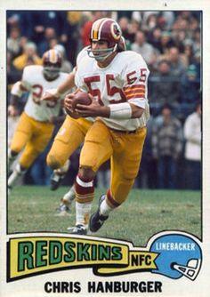 Chris Hanburger Washington Redskins Football Memes, Nfl Football, American Football, Football Players, Football Trading Cards, Football Cards, Baseball Cards, Custom Football, Vintage Football