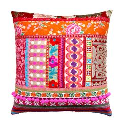 Ethnic Retro Patchwork Cushion / Pillow Cover by madebylisajane