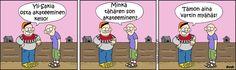 Pakko son myäntää, notta tälläki viikolla on tullu myähästyttyä! Finland, Avon, Family Guy, Guys, Comics, Fictional Characters, Cartoons, Fantasy Characters, Sons
