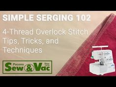 """Join Kathy as she shows you how to adjust stitch length for a different look, gather fabric using a serger, and an explanation of cutting width to avoid """"loo. Serger Stitches, Serger Thread, Sewing Hacks, Sewing Tutorials, Sewing Tips, Singer Overlock, Overlock Machine, Janome, Learn To Sew"""
