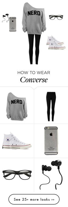 """Underneath all the makeup...."" by mari-890 on Polyvore featuring moda, Max Studio, Converse y Monster"