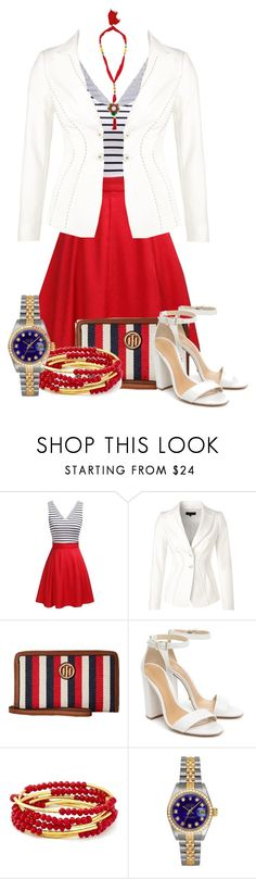 """""""Jacket Contest"""" by tlb0318 on Polyvore featuring ESCADA, Tommy Hilfiger, Schutz, Chrysalis, Rolex and Rosantica"""