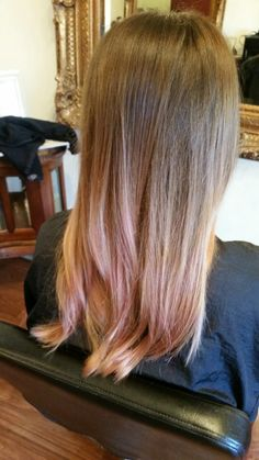 brown rose gold ombre - Google Search