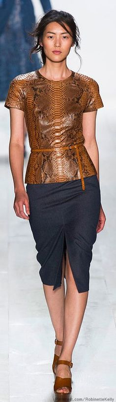 Michael Kors | S/S 2014 snake skin top Animalistic Style Inspiration Apparel Clothing Design #UNIQUE_WOMENS_FASHION