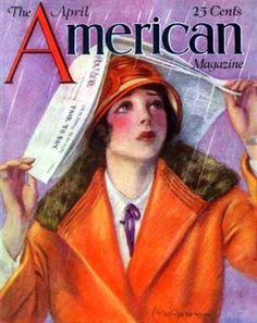 American Magazine Flapper in the Rain April __ Ruth Eastman