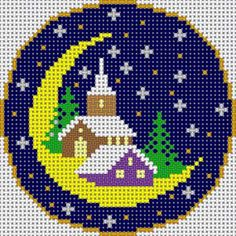 Christmas church cross stitch.