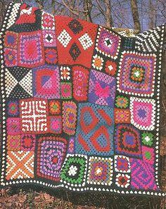 Crochet Pattern for a SAMPLER AFGHAN