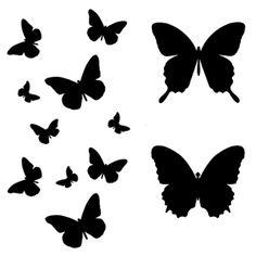 *  Art Stencil Template Butterfly Flight