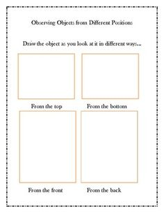 Here are two science notebook pages for K-2 students to use when observing objects from nature.