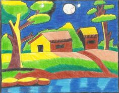 landscapes painting for children - Google Search