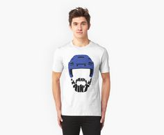 """""""Hockey Playoff Beard, Shave It Ain't So"""" T-Shirts & Hoodies by gamefacegear   Available in mens, womens and unisex styles. Check out: http://www.redbubble.com/people/gamefacegear/ for many more! #Redbubble #HockeyTshirts #HockeyBeard"""