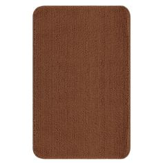 Ottomanson Softy Collection Camel Solid Machine-washable Non-slip Bathroom Mat Rug (36 X 60 inches)
