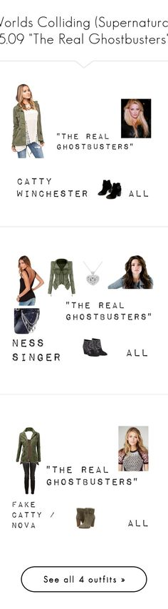 """Worlds Colliding (Supernatural) 5.09 ""The Real Ghostbusters"""" by mysticfalls1997 ❤ liked on Polyvore featuring Chinese Laundry, Full Tilt, BCBGMAXAZRIA, Witchery, Kristina Ti, J.TOMSON, belle by Sigerson Morrison, Stanzino and Carmen Marc Valvo"
