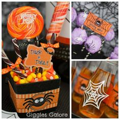 Spider Halloween Party Ideas via Giggles Galore