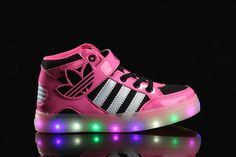 Adidas Light Up Shoes Kids Pink Black White 26-35 Italy