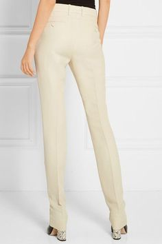 Gucci Wool And Silk-blend Faille Straight-leg Pants Cream - Gucci Pants - Ideas of Gucci Pants - Gucci Wool And Silk-blend Faille Straight-leg Pants Cream IT Alessandro Michele, Gucci Shoulder Bag, Studio 54, Straight Leg Pants, Khaki Pants, Jumpsuit, Gucci Gucci, Blazer, Wool
