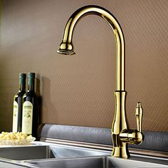 Contemporary Ti-PVD One Hole Single Handle Kitchen Faucet  http://www.tapso.co.uk/contemporary-tipvd-one-hole-single-handle-kitchen-faucet-p-1774.html