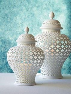 These beautiful lanterns can be an accent throughout every season. Dress up the winter wonderland feel or find yourself next to it on a hot summer night. In porcelain. Carthage Pierced Lantern is size Ceramic Lantern, Lantern Designs, Carthage, Candle Lanterns, Rustic Lanterns, Burke Decor, Moroccan Decor, Christmas Candles, Balloon Garland