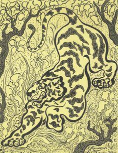 Tiger in the Jungle (Tigre dans les jungles), Paul Elie Ranson, Van Gogh Museum, Amsterdam (Vincent van Gogh Foundation), View this artwork Paul Gauguin, Paul Signac, Van Gogh Museum, Art Museum, Maurice Denis, Georges Seurat, Edouard Vuillard, Paul Cézanne, Henri Fantin Latour