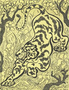 Tiger in the Jungle (Tigre dans les jungles), 1893, Paul Elie Ranson, Van Gogh Museum, Amsterdam (Vincent van Gogh Foundation)
