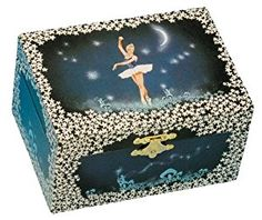 "Musicboxworld Blue Jewellery Box Ballerina Playing ""Ballerina""  http://electmejewellery.com/jewelry/childrens-jewelry/musicboxworld-blue-jewellery-box-ballerina-playing-ballerina-couk/"