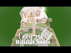 35k Cozy hillside house - Bloxburg speedbuild - YouTube Two Story House Design, Tiny House Layout, Unique House Design, House Layouts, My House Plans, Family House Plans, Luxury House Plans, Home Building Design, Building A House