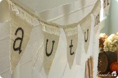 create a no-sew burlap and lace bunting