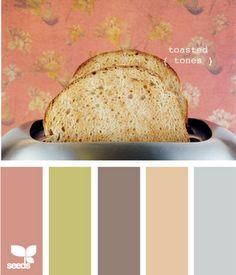 toasted tones - design seeds Yes for hubby Colour Pallette, Colour Schemes, Color Combos, Color Patterns, Color Mix, Design Seeds, Palette Design, Beautiful Color Combinations, Colour Board