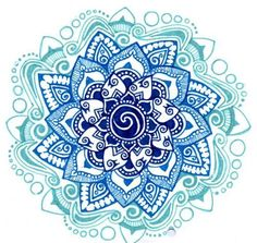 Blue - thinking that doodling mandalas would not only be a good meditation, but also a great subject of thrown art.  :)
