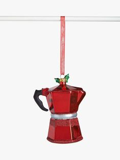 Buy John Lewis & Partners Traditions Coffee Pot Tree Decoration, Red from our Baubles & Tree Decorations range at John Lewis & Partners. Christmas Tree Baubles, Christmas Tree Themes, Christmas Traditions, Red Christmas, Xmas, Holiday, Christmas Biscuits, Traditional Christmas Tree, Potted Trees