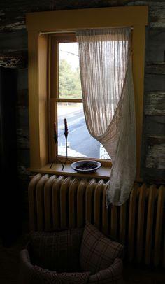 Tobacco Cloth Tie Up Panel