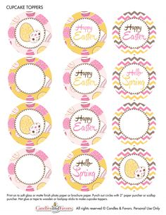 Free Printables for Easter to decorate your Easter kids parties! | CatchMyParty.com