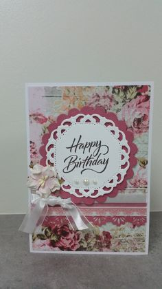 Gallery - The Craft Spritzer. Card made with Kaisercraft Oh So Lovely Collection