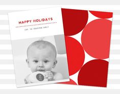 Holiday Card Modern Photo Christmas Card by paperheartprints