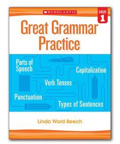 Another great find on #zulily! Grade 1 Great Grammar Practice Workbook #zulilyfinds