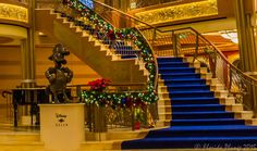 https://flic.kr/p/F5tgvj | Disney Dream Lobby Staircase | Stairway to heaven!  Disney Dream Staircase into lobby on Disney Cruise Line during Christmas holiday sailing.