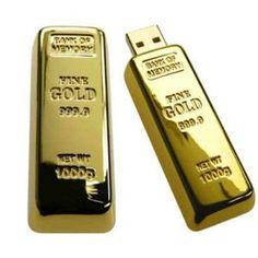 New 3d 8gb Gold Bar flash drive Usb Flash Pen Drive Memory