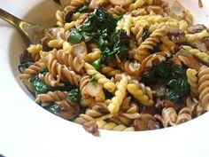 Recipes from 4EveryKitchen: Mushroom, Herbs & Beet Green Pasta