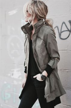 justthedesign:  Military Fashion Trend 2015: Mary is wearing a...