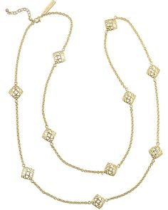 Our classic medallion with an island exotic twist interchanges with delicate chains for a long metal necklace, perfect for everyday wear. Whether layered up with your favorite pendant necklace or worn solo, the Nemera Necklace will truly enchant your look.