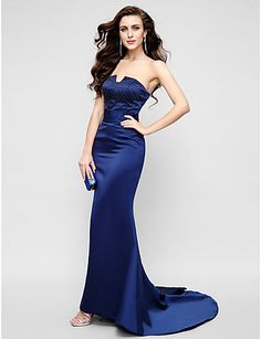 e3f585f5c64ce TS Couture® Formal Evening   Military Ball Dress - Dark Navy Plus Sizes    Petite
